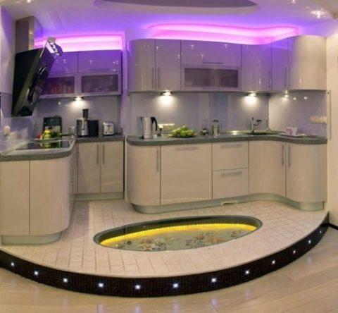 Декоративное освещение для кухни