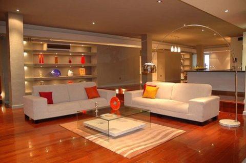 Декоративное освещение гостиной