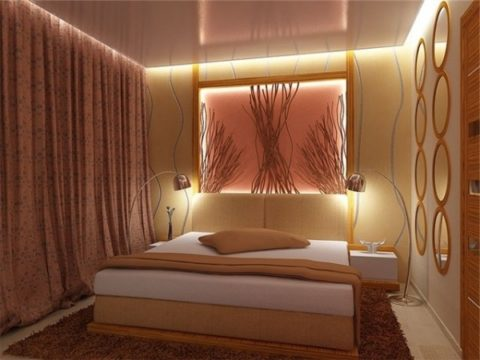 Местное освещение для спальни