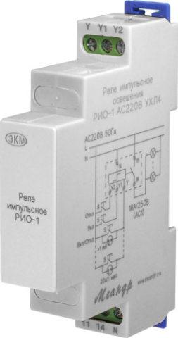 На фото схема подключения реле РИО-1
