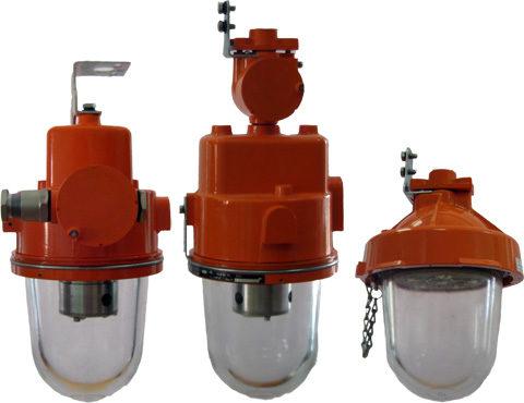 На фото светильники во взрывозащищенном исполнении