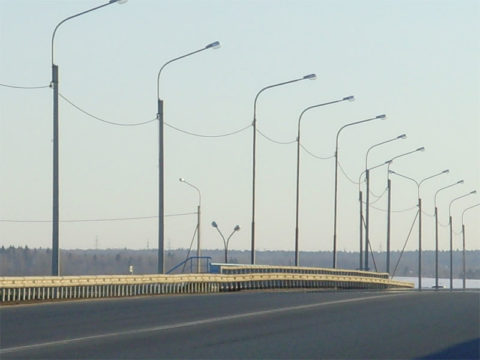 Освещение моста