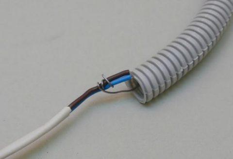Подготовка к протягиванию кабеля