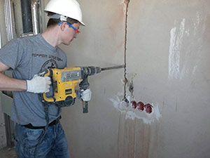 Подготовка стены под прокладку кабеля