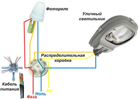 Подключение датчика освещенности без выключателя