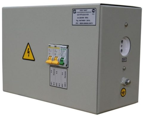 Понижающий трансформатор для подключения временных электроприемников