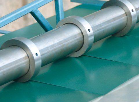 Порезка металлического листа роликами