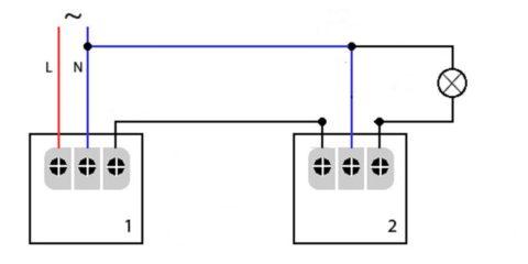 Последовательная схема подключения датчиков