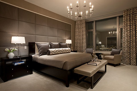 Пример общего освещения спальни
