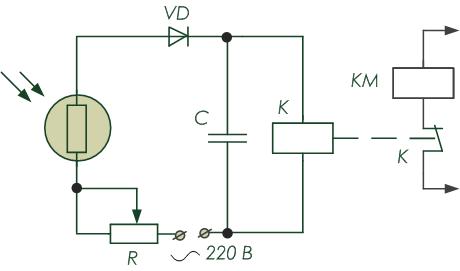 Принципиальная электрическая схема датчика освещенности