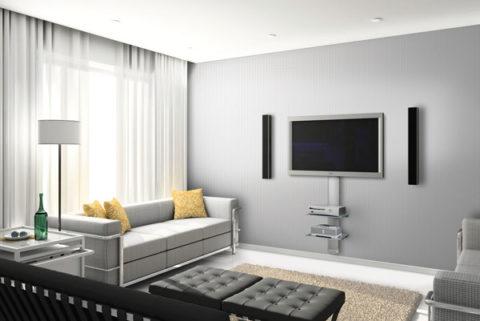 Скрытая проводка кабеля для ТВ