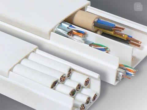 Укладка проводов и кабелей в коробах