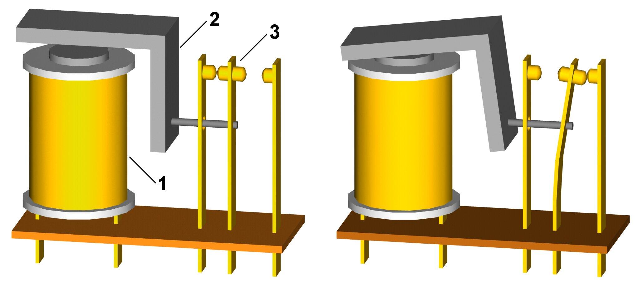 управление освещением импульсным реле схема