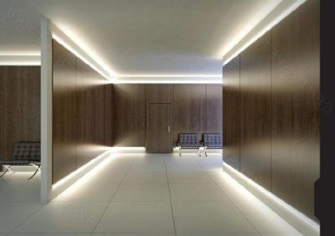 Источник света — светодиодная лента