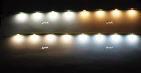 На фото — источники света с разной цветовой температурой