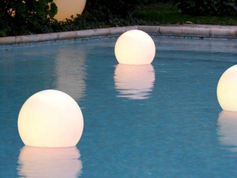 Надводное освещение бассейнов