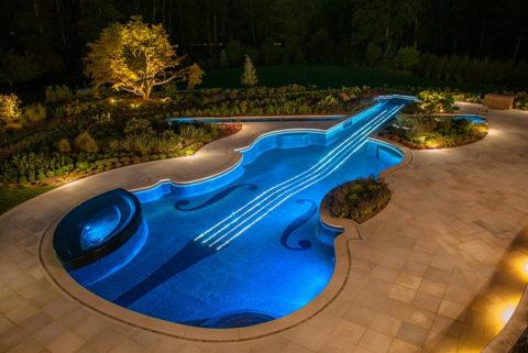 Оптоволоконное освещение бассейнов
