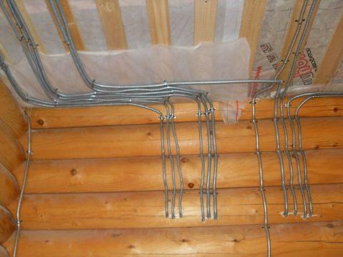 Открытая проводка в помещениях из сгораемых материалов