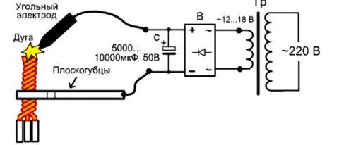 Схема сварки проводов
