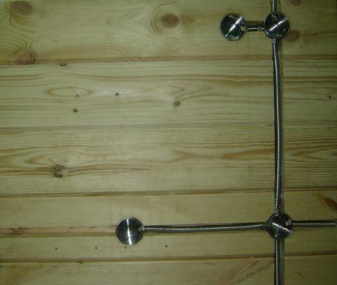 Скрытая проводка в помещениях из сгораемых материалов