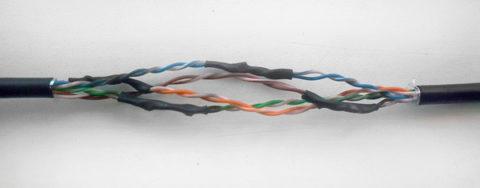 Соединение сетевого кабеля скруткой
