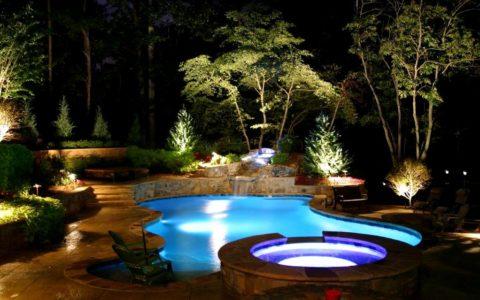 Заливное освещение бассейнов