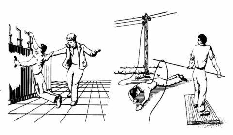 Освобождение пострадавших от действия электрического тока