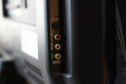 Ответный разъем S-Video на корпусе телевизора