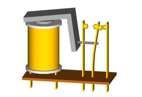Принцип действия электромагнитного токового реле