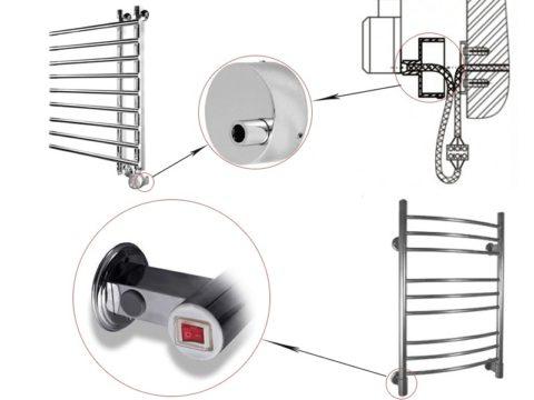 Принципиальная схема подключения полотенцесушителя