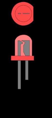 Цоколевка светодиода (справедлива для всех светодиодов в подобном корпусе).
