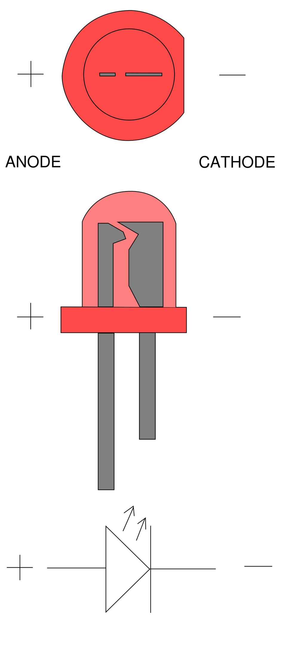 Светодиод на схеме фото