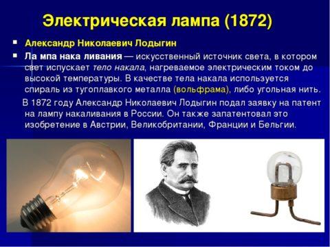 Александр Лодыгин - тоже один из авторов лампы накаливания