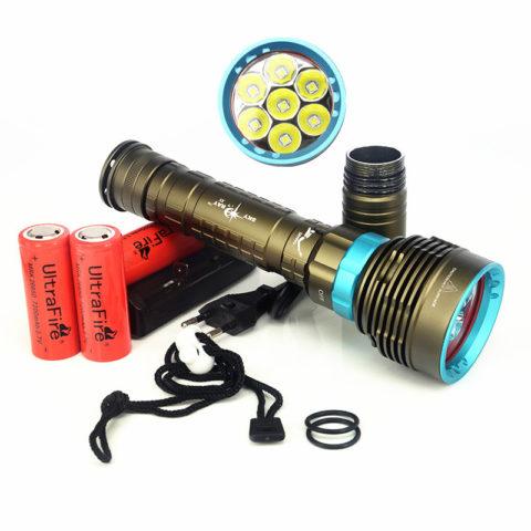 Для подводного фонаря важно качество элементов питания