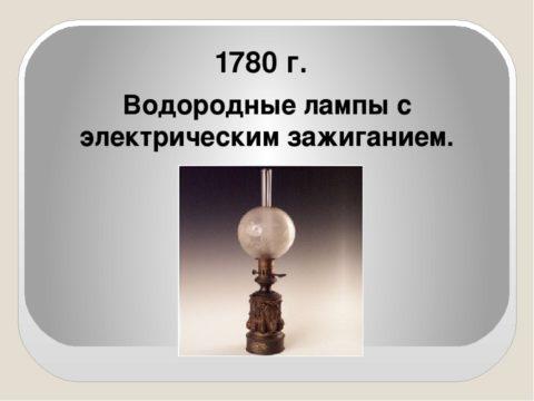 Электрический ток впервые используется в осветительном приборе