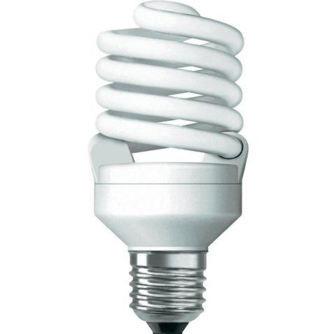 Энергосберегающая компактная люминесцентная лампочка