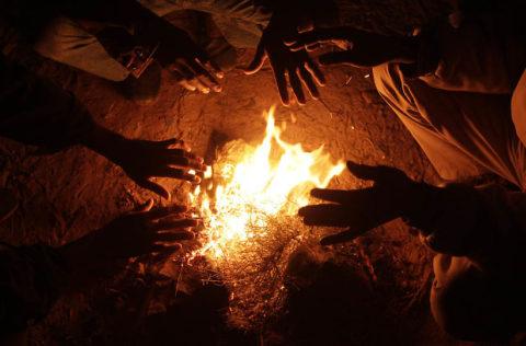 Естественное тепло огня спасало людей от холода многие тысячелетия