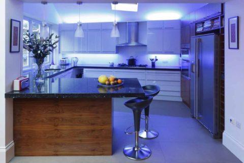 Лента светодиодная и кухня