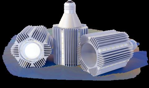 Массивные радиаторы для охлаждения светодиодных ламп