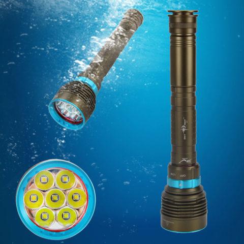 Подводные LED фонари для дайвинга и подводной охоты