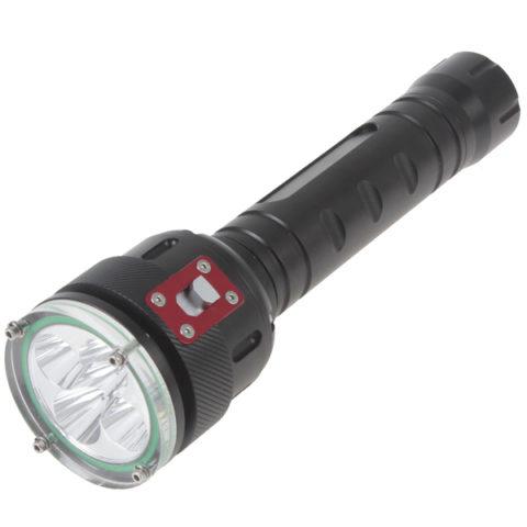 Подводный фонарь для дайвинга светодиодный с кнопочным управлением