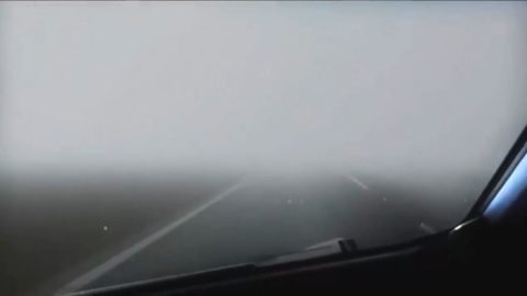 При таком тумане уличные фонари тоже немного могут помочь