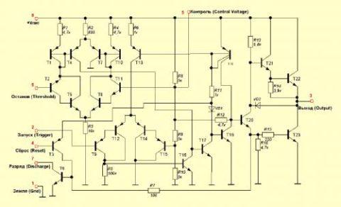 Принципиальная схема 555 микросхемы