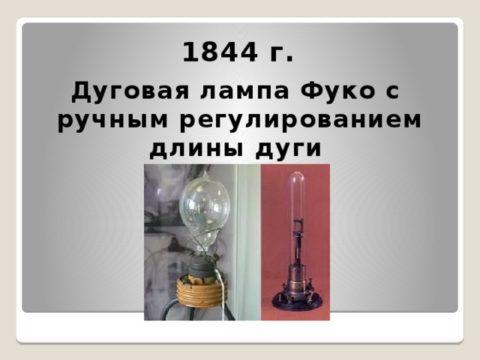Регулятор Фуко в лампах того времени