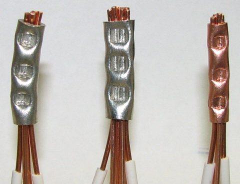 Соединение проводов методом прессовки