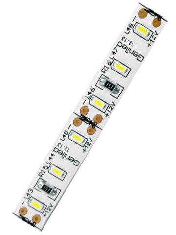 Светодиодная лента для кухни: желтые – светодиоды; черные – резисторы; коричневые – контакты