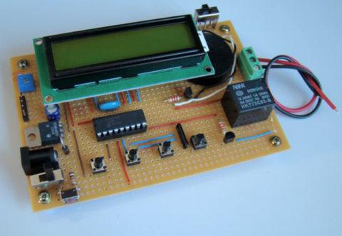 Таймер розетка на микроконтроллере