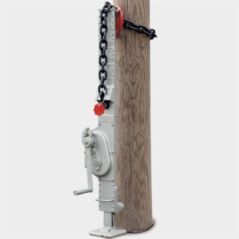 Гидравлический домкрат для извлечения столбов из грунта