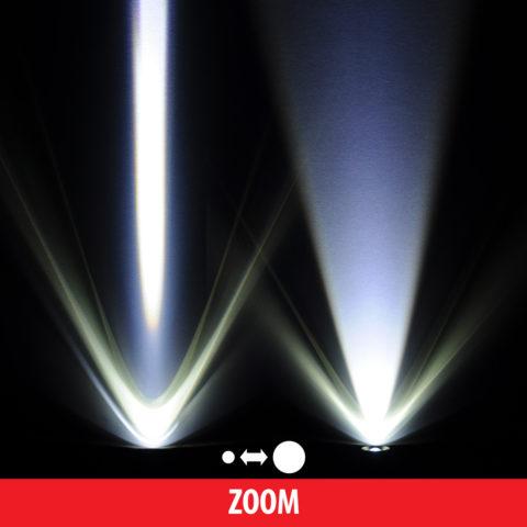 Изменение направленности светового потока у светодиодного фонаря
