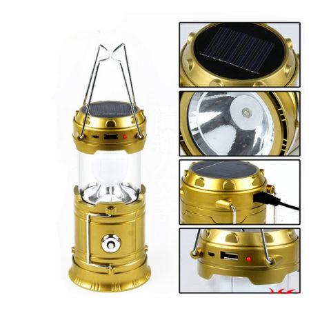 Многофункциональный аккумуляторный фонарь кемпинговый светодиодный в металлическом корпусе